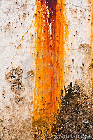 Breakwater Rust Stains Stock Images.