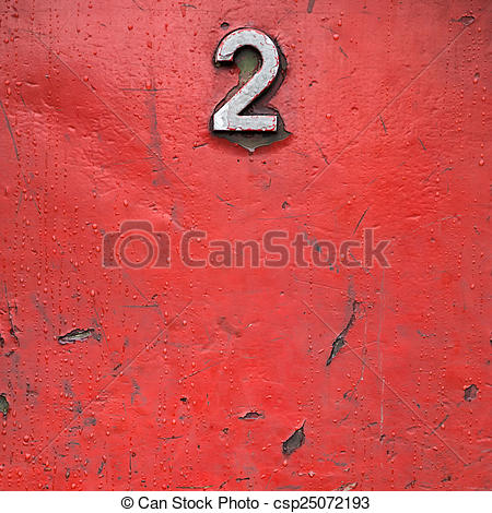 Stock Photographs of Red painted metal with rust stains and small.