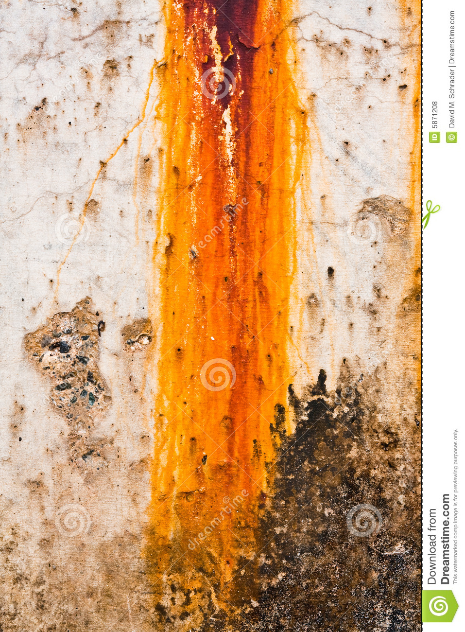 Breakwater Rust Stain Royalty Free Stock Photos.