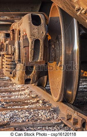 Stock Photography of Freight Train and Track.