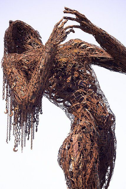 Emotionally Charged Scrap Metal Sculpture.