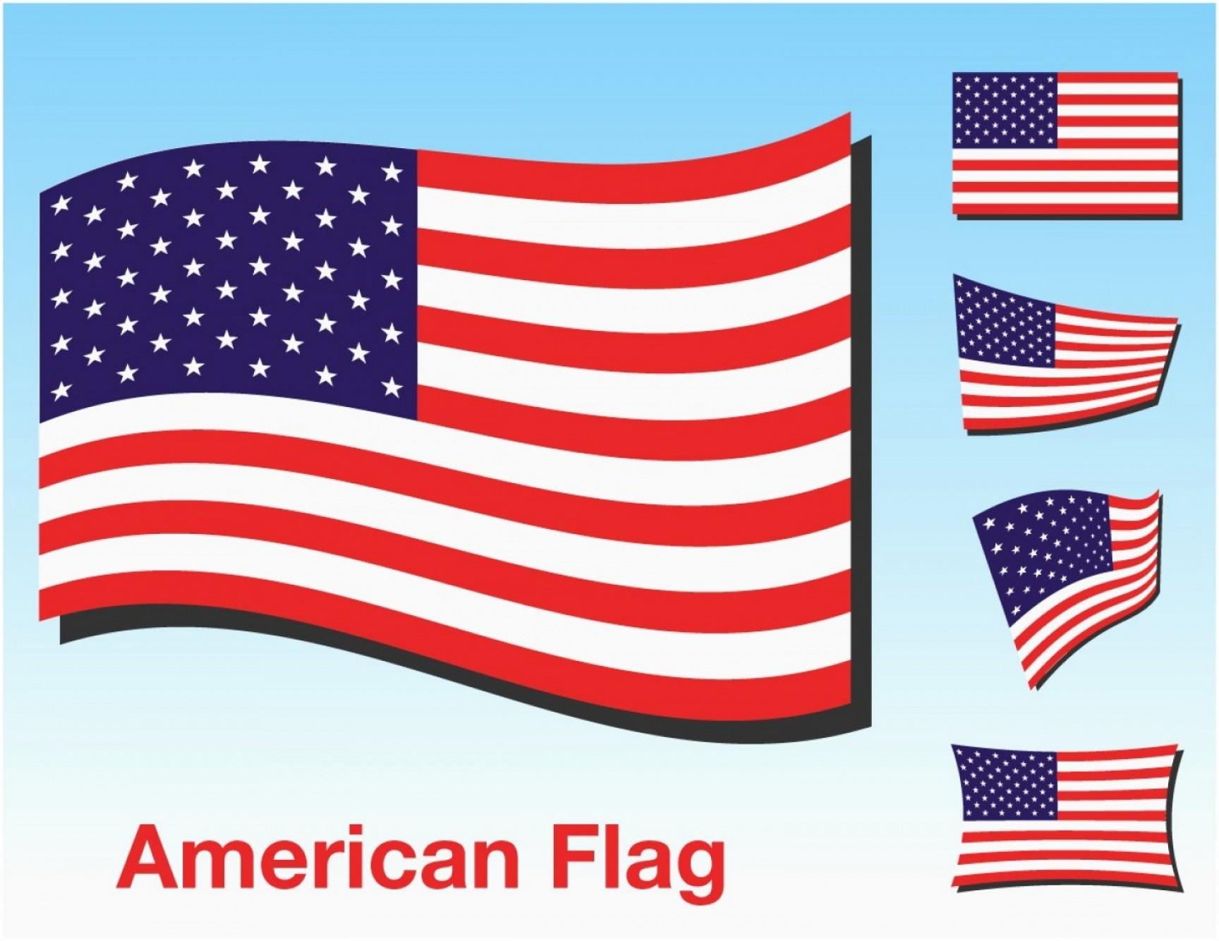 Rustic American Flag Vector.