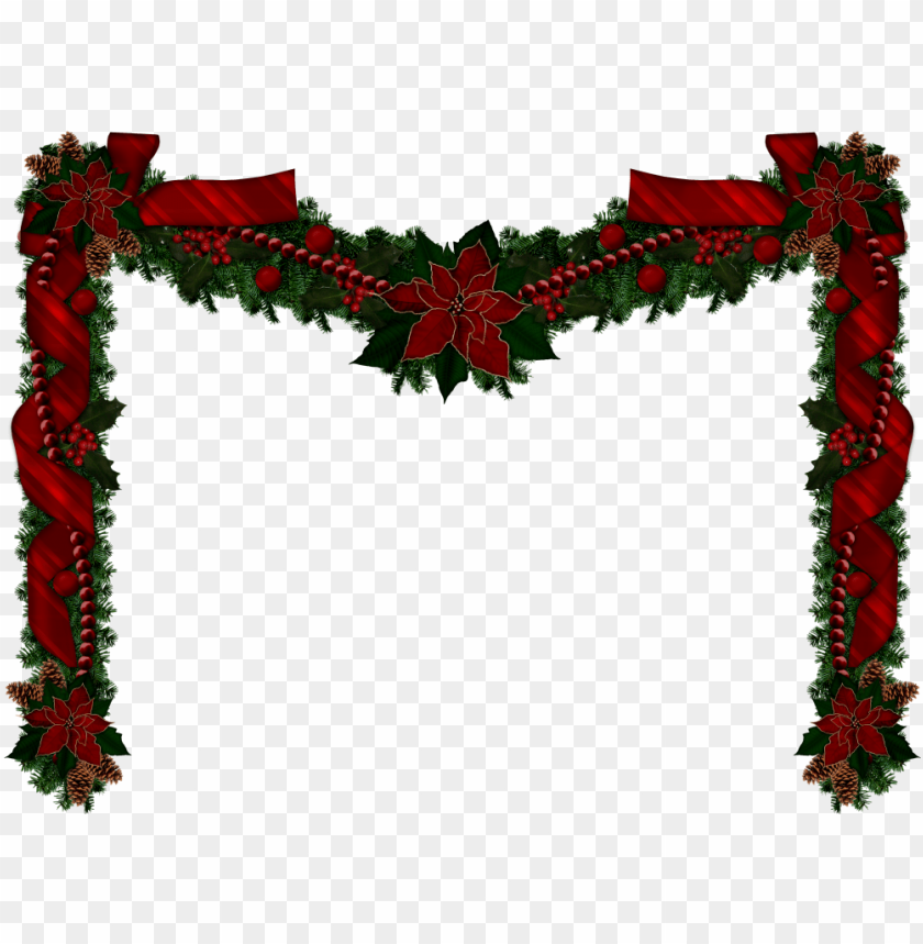 christmas garlands, christmas clipart, rustic christmas.