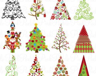 80% OFF Sale Christmas Clipart, Christmas Clip Art, Clipart Trees.
