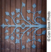 Pictures of Rustic Chapel Door.