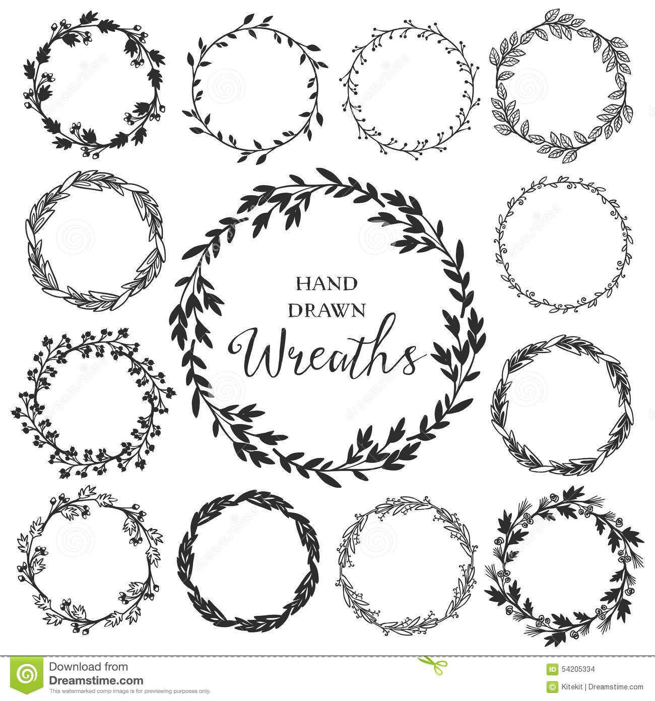Image result for rustic floral circle black and white.
