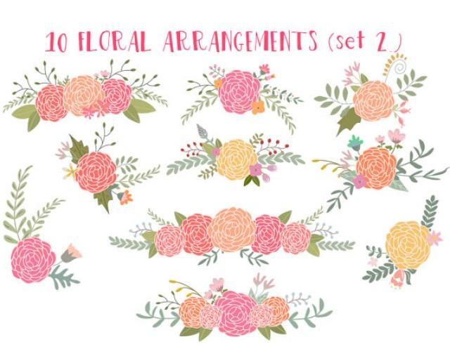 Rustic flowers clipart.