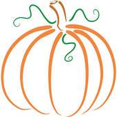 Elegant pumpkin clipart.