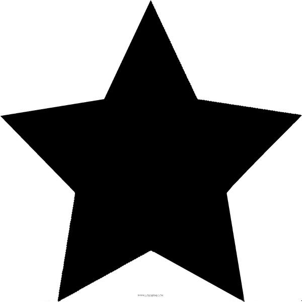 Rustic star clip art.