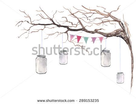 Rustic Tree Clipart.