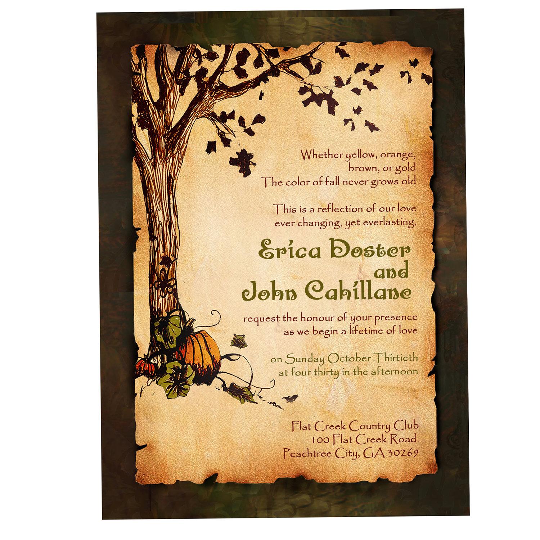 Rustic Tree Border Clipart.