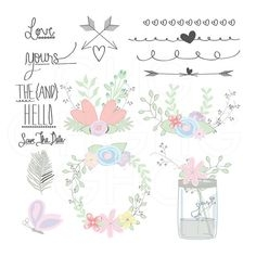 Free Rustic Wedding Clipart.