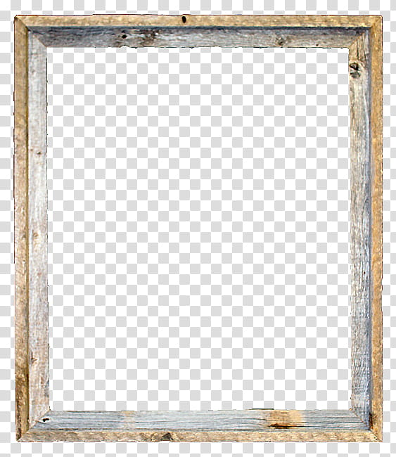 Rustic Wood Frames s, rectangular brown frame transparent.