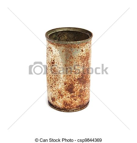 Stock Photographs of Rusty cans..