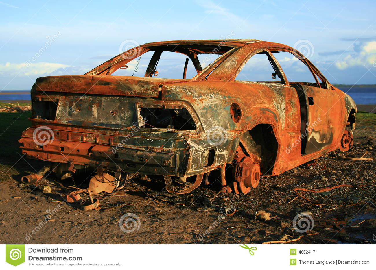 Rusty Car Royalty Free Stock Photography.