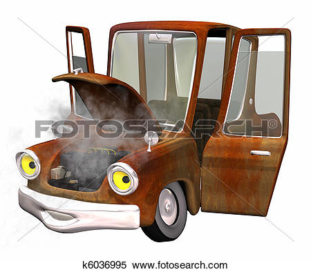 Stock Illustration of old rusty car k6036995.
