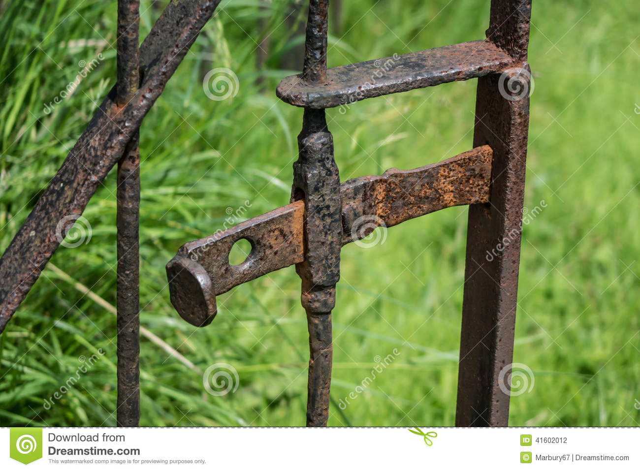 Old Rusty Gate Latch Stock Photos.