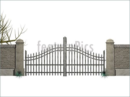 Gallery For > Rusty Gate Clipart.
