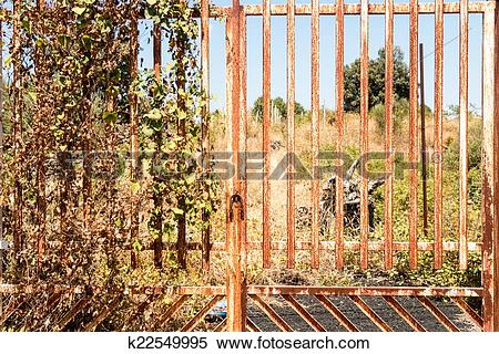 Stock Image of rusty gate k22549995.