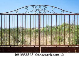 Rusty gate clipart #9