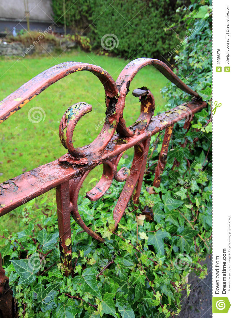 Old Rusty Gate Close Up Stock Photo.