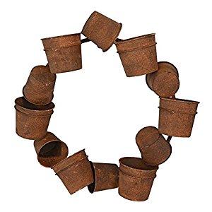Amazon.com : RCS Gifts Rusty Pot Wreath Planter : Patio, Lawn & Garden.