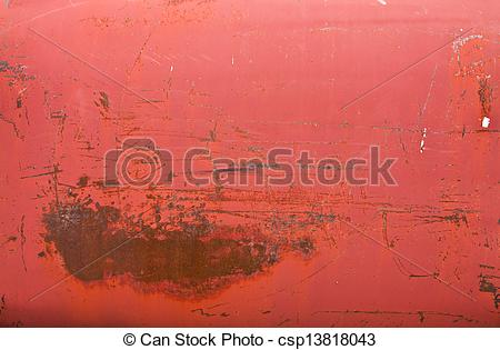 Stock Photo of Rusty red metal tank texture.
