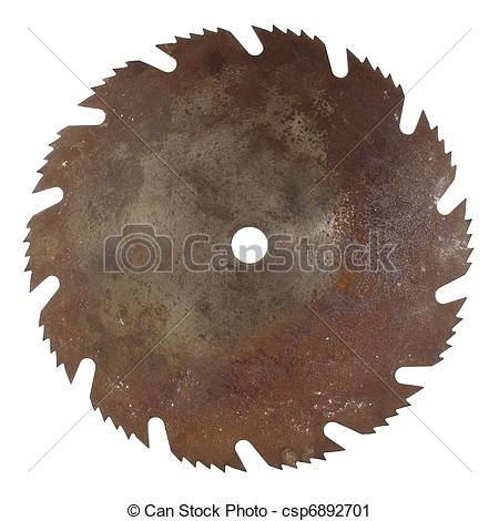 Stock Photography of Old rusty saw blade.