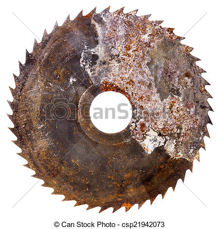 Picture of Old rusty circular saw blade.