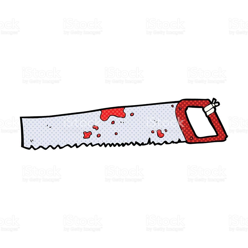 Comic Cartoon Rusty Old Saw stock vector art 532817343.