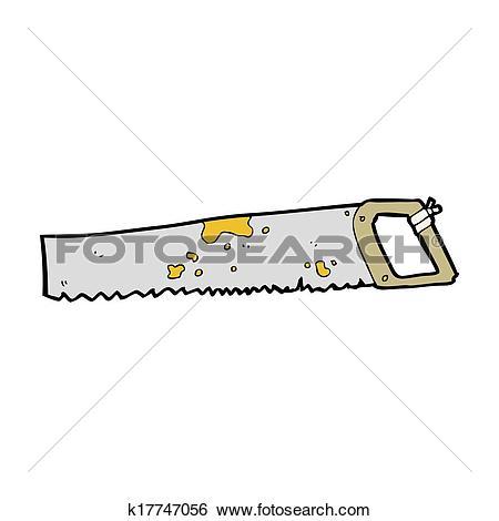 Stock Illustration of cartoon rusty old saw k17747056.