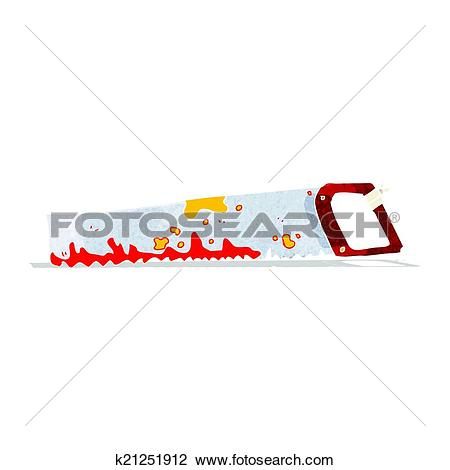 Clipart of cartoon rusty old surgeons saw k21251912.