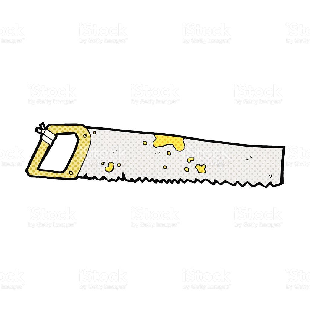 Comic Cartoon Rusty Old Saw stock vector art 465003100.
