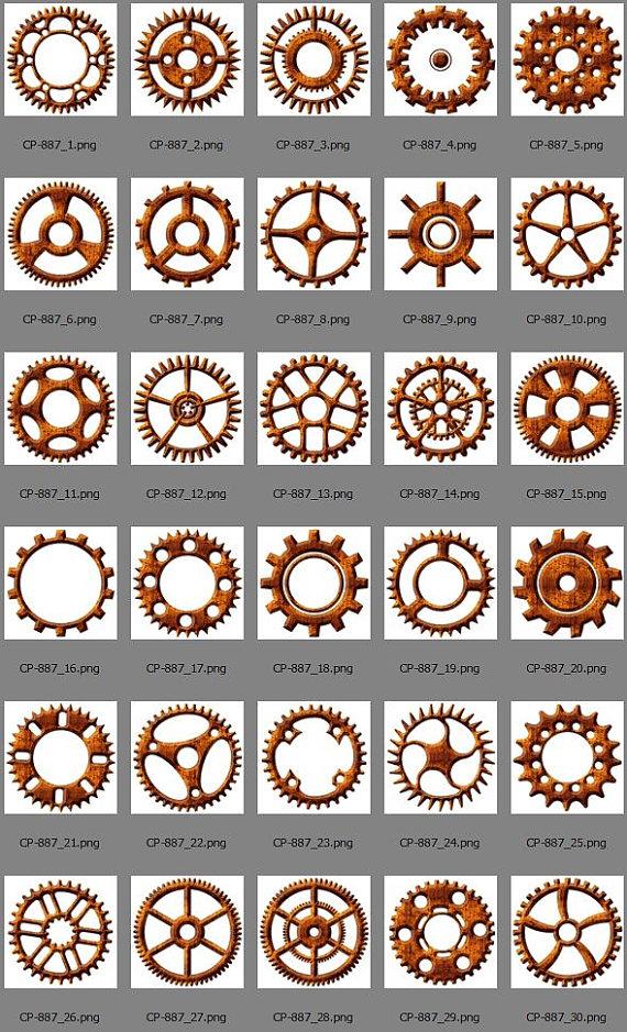 30 Steampunk Rusty Metall Zahnräder & Getriebe.