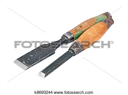 Old chisel tools clipart.