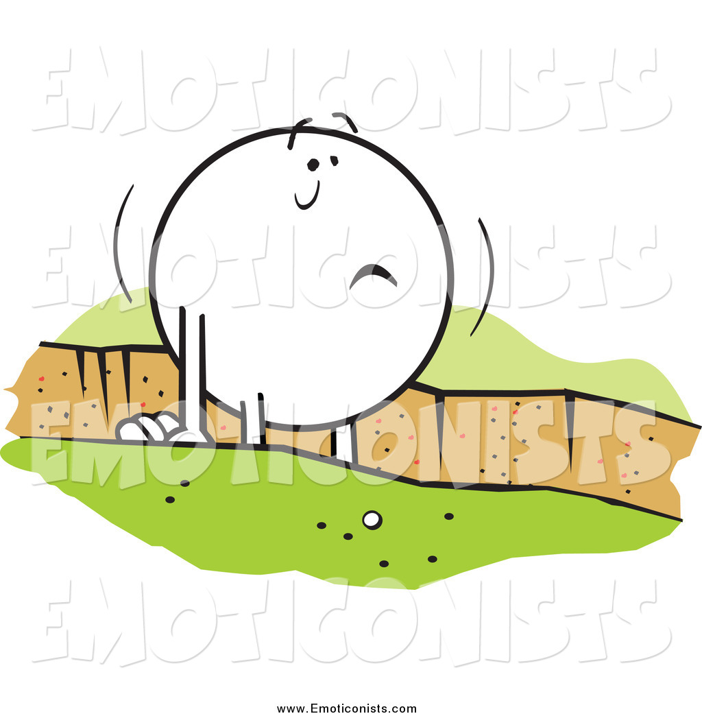 Clip Art of a Moodie Character Emoticon Stuck in a Rut by Johnny.