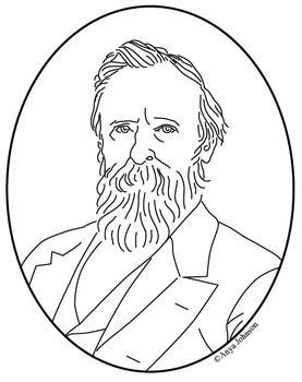 Rutherford B. Hayes (19th President) Clip Art, Coloring Page or.