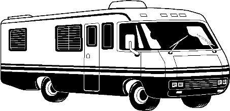 Cartoon RV Motorhome Clip Clipart.