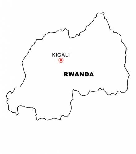 Free Map of rwanda.