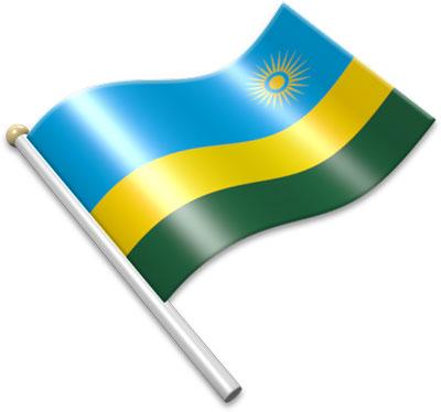 Flag Icons of Rwanda.