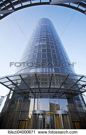 """Stock Photography of """"RWE Tower, headquarters, Essen, Ruhr."""