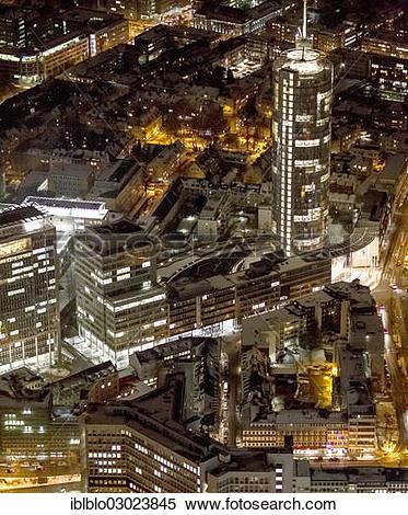 """Stock Image of """"Aerial view, RWE tower, """"""""""""""""Power Tower"""""""""""""""", RWE."""