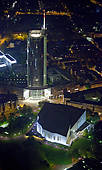 """Stock Photography of """"RWE Tower, EVONIK corporate headquarters."""