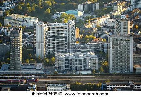 Stock Photograph of Skyscrapers in Essen, new Schenker corporate.