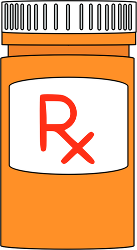 Prescription medicine bottle.