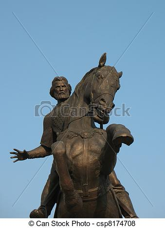 Pictures of Monument to Evpatiy Kolovrat in Ryazan.