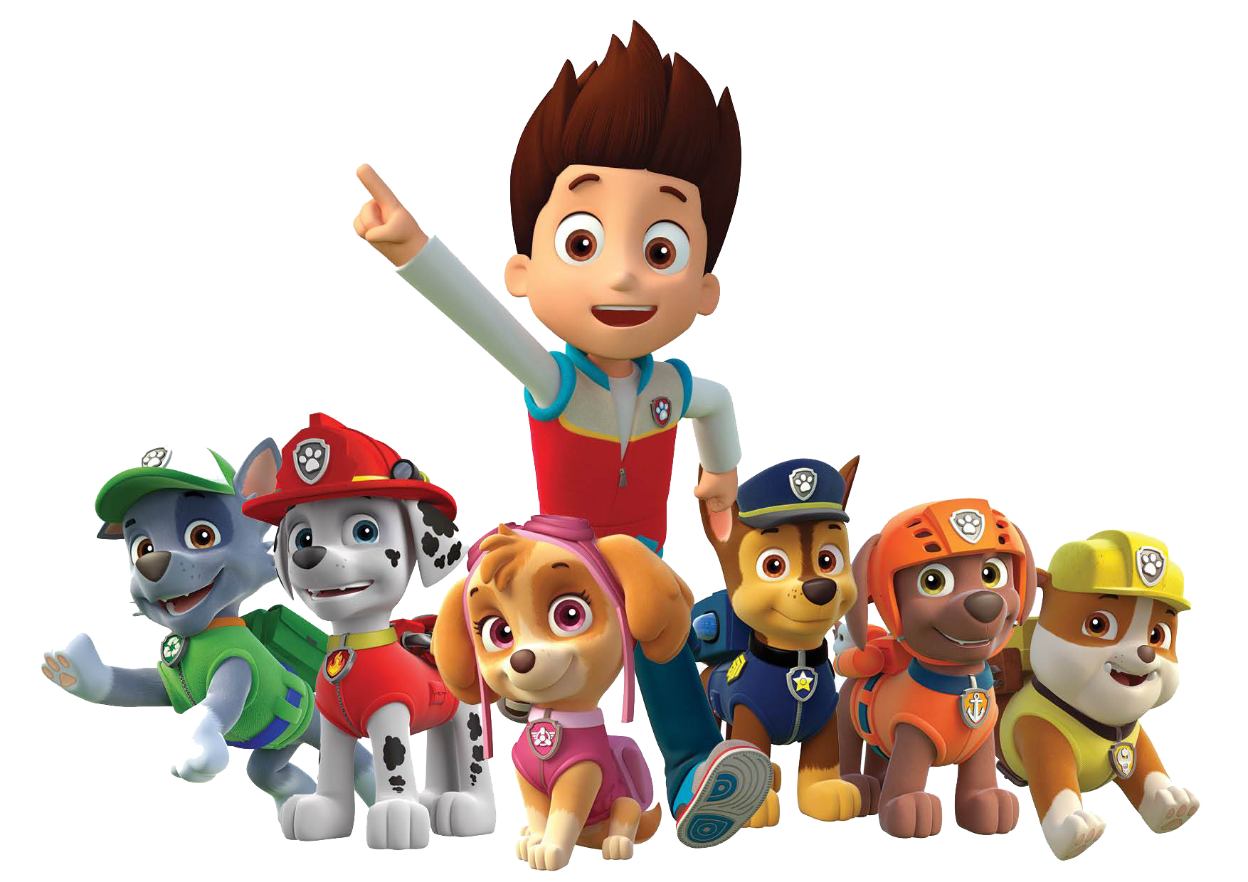 Paw Patrol Ryder All Characters.