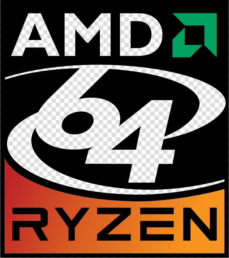 AMD Ryzen logo throwback transparent background PNG clipart.