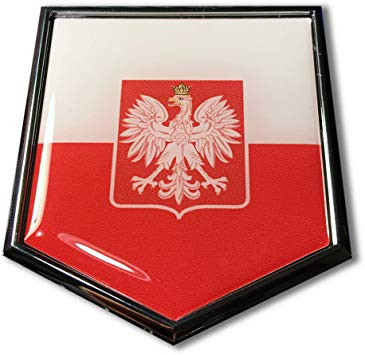 Amazon.com: Poland Flag Domed CHROME Emblem Proud Flag Car.