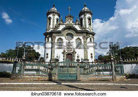"""Pictures of """"Church Sao Francisco de Assis, Sao Joao del Rei."""